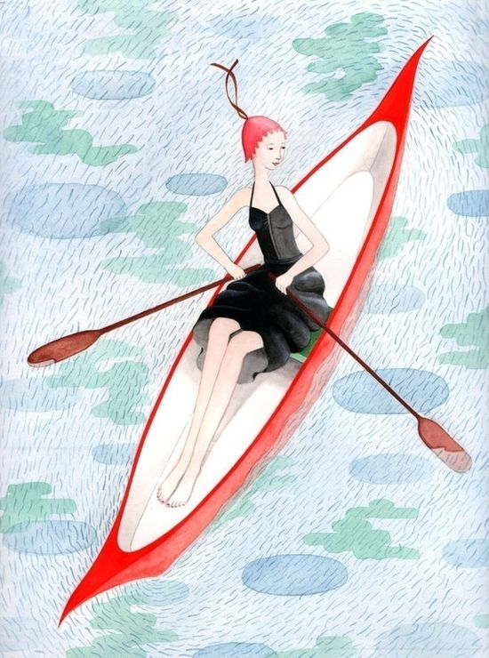 Rowing Girl by SophieBlackall on Etsy, $45.00