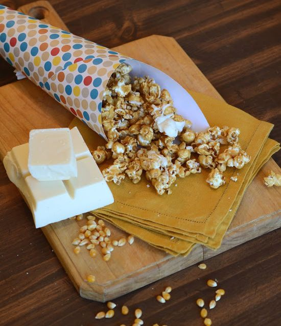 Salted Caramel Corn with White Chocolate