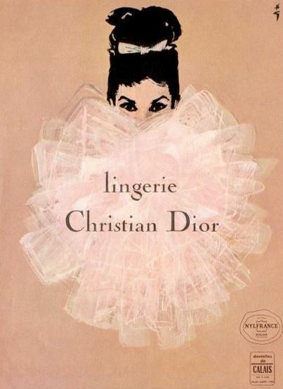 vintage christian dior illustration