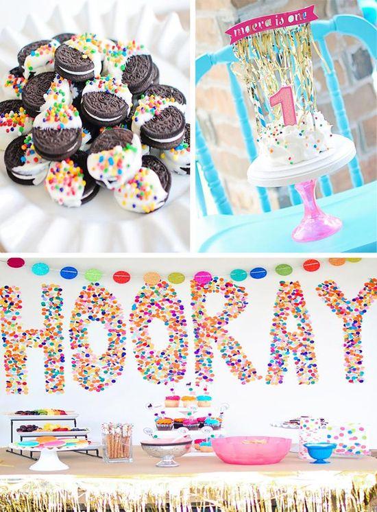 Confetti Birthday Bash with LOTS of FUN IDEAS via Kara's Party Ideas