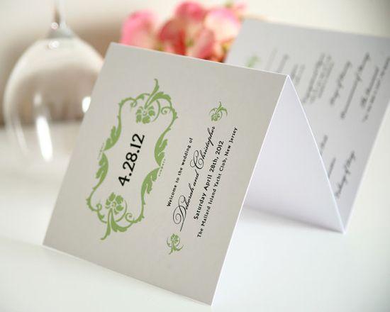 Lavish Ornament Tri Fold Wedding Programs by shineinvitations, $3.50
