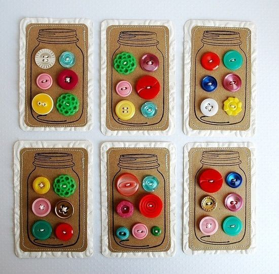 buttons in jars cards