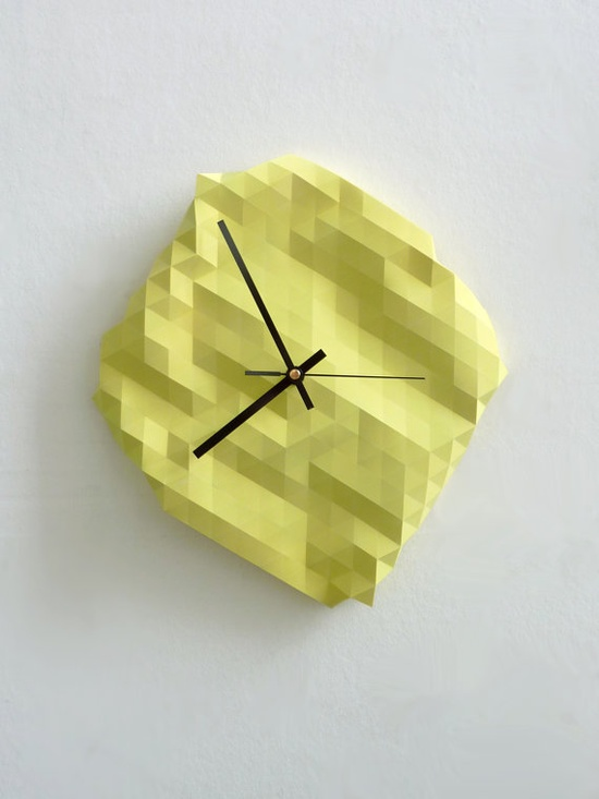 No need to adjust your computer screen. This pixelated clock is the real work of Etsy seller RawDezign.
