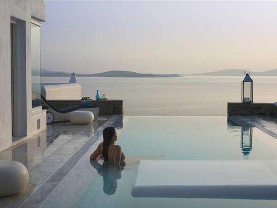 Exotic Resort in Greek God Apollo's Birthplace: Mykonos Grand Hotel