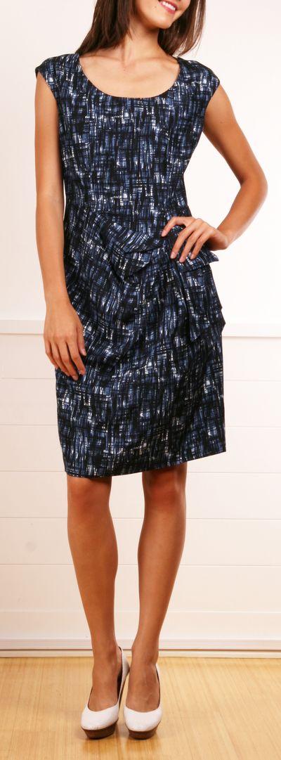 Michael Kors black and blue print dress