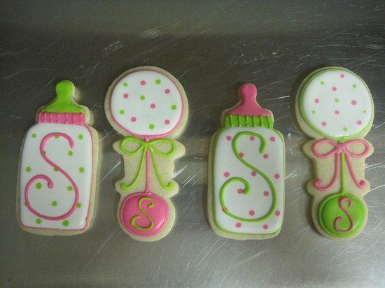 Cute Baby Shower Cookies