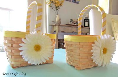 DIY Flower Girl Baskets! #wedding