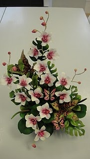 Sugar flower arrangement