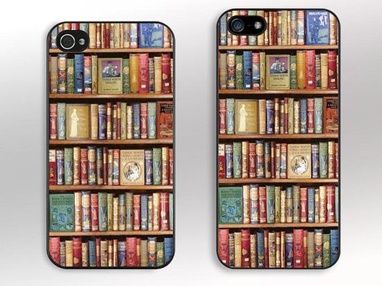 Bookshelf -- iPhone 5S Case, iPhone 5C Case, iPhone 5 Case, iPhone 4S Case, iPhone 4 Case, iPhone Case, iPhone Cover Skins