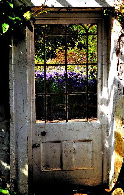 door to the garden...
