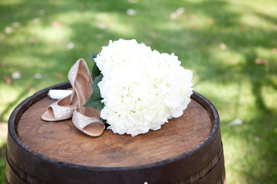my shoes and bouquet  Photo Courtesy of Dustin Ludwig Photography
