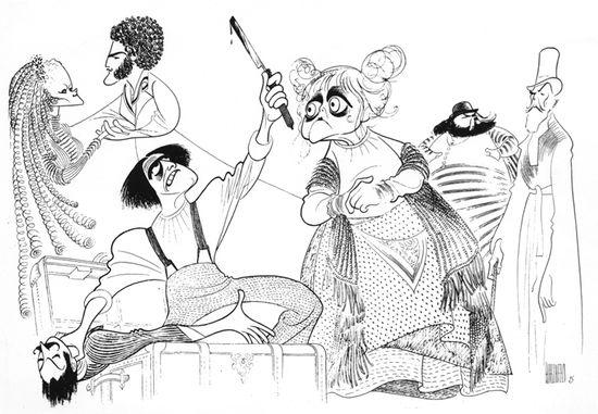 Al Hirschfeld.com - THE MARGO FEIDEN GALLERIES LTD. - Celebrating Stephen Sondheim's 80th Birthday - Sweeney Todd