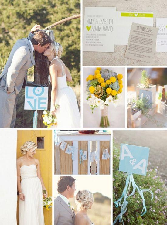Ranch Wedding: yellow & grey ideas