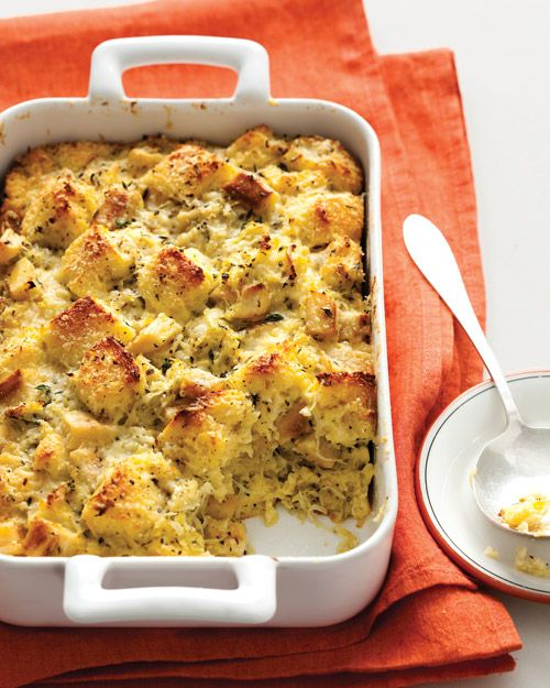 {Christmas Nosh} Embrace savory bread pudding with this season Roasted-Parsnip Bread Pudding recipe from Martha Stewart