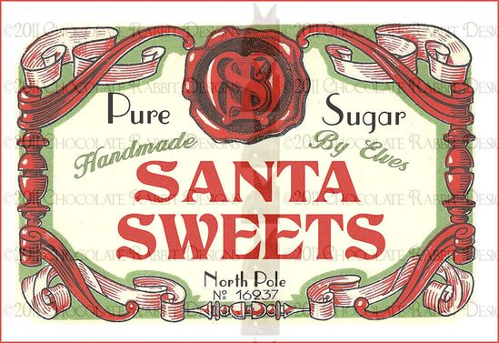 Vintage Christmas Candy Label
