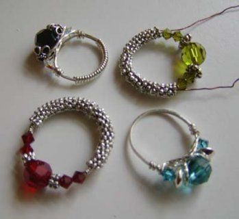 wire wrapped rings....how cool is that?!?!