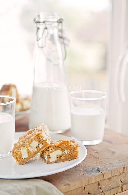 Blondies and milk