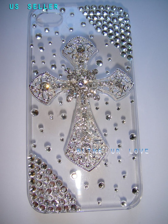 Bling iPhone  44s 3gs  case made with Swarovski by beasupshop, $29.99