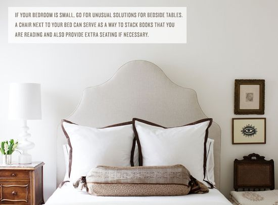 A neutral palette helps a small room feel airy and light via @Rue Magazine