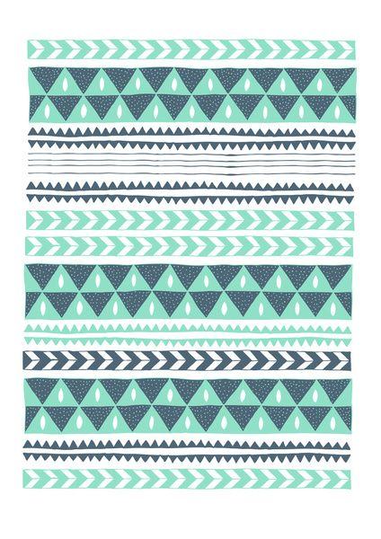 Winter Stripe Art Print