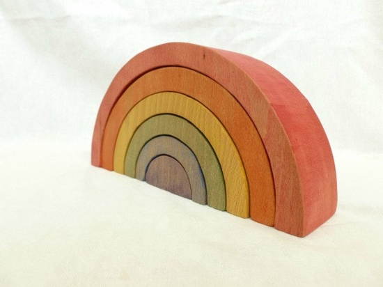 Large Wooden Rainbow Toy Waldorf Toy