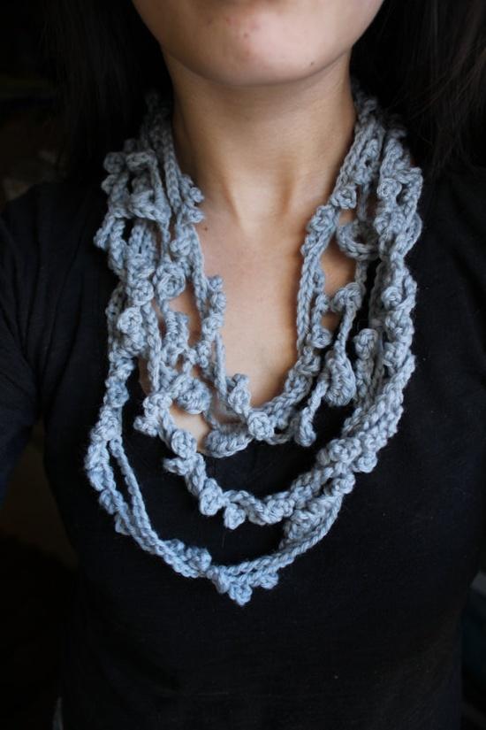 Crochet summer scarf