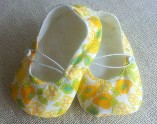 Going to a baby shower? Bring a hand made gift. Love the yellow floral print.