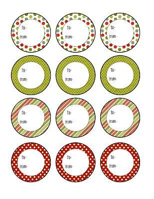 Christmas Tags free printable