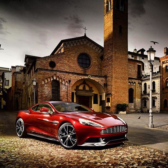 Devil Red Aston Martin Vantage!