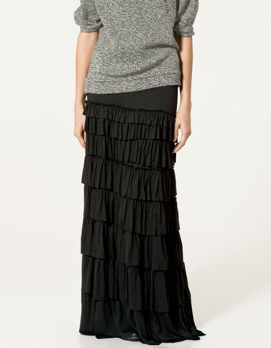 long skirt with frills from Zara