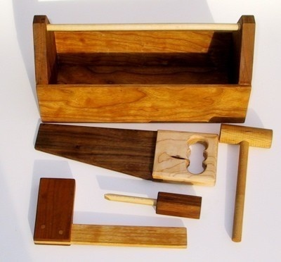 wood toy tool box