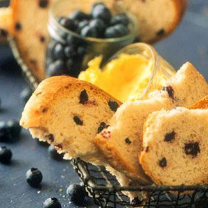 Blueberry Muffin Bread -- For a light and healthful #breakfast, serve this blueberry-studded #bread with yogurt and fresh