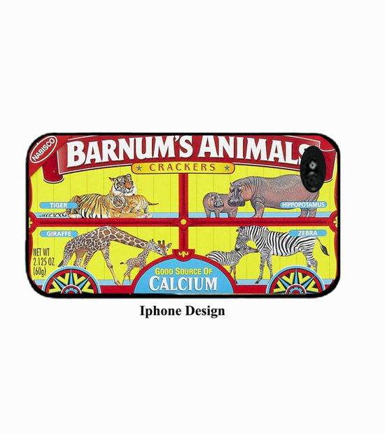 Iphone 5 case animal cracker box by IphoneDesign on Etsy