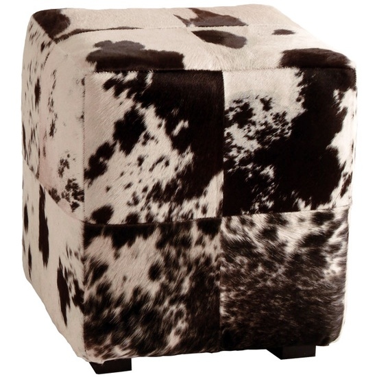 Luxe Black & White Natural Hide Ottoman, So Beautiful, Unique Luxury Hollywood Home Decor & Gift Ideas Courtesy Of InStyle-    Decor.com Beverly Hills Enjoy & Happy Pinning