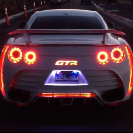 One of a kind: The Nissan GT-R Radzilla is an LED Monster! See it 'light up' by clicking on the pic!