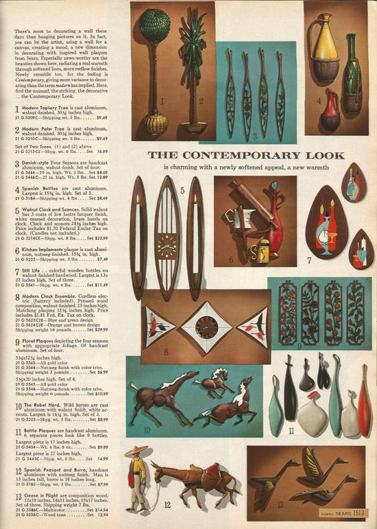 Vintage Home Decor 1965