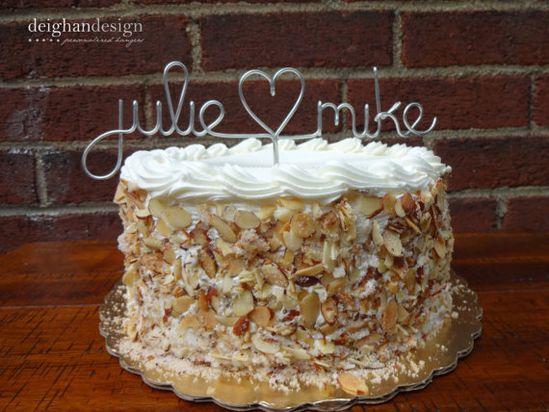 Custom Cake Topper  Wedding Cake Topper Wire by DeighanDesign, $28.00
