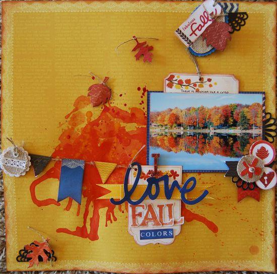 I Love Fall Color - Scrapbook.com