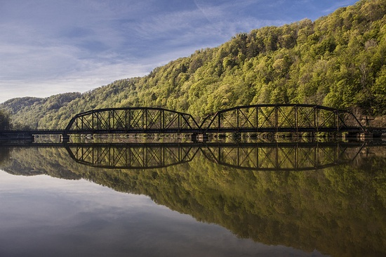 just bridge, near Hawks Nest Dam, West Virginia by ~Fred Wolfe~, via Flickr