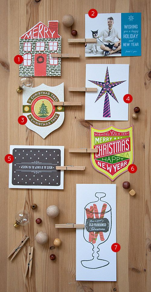 Some of our favorite holiday cards! Check out all of them here: www.designsponge....