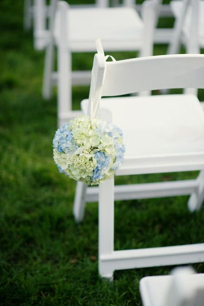 Hydrangea lined aisle...Photography by robertandkathleen...  Read more - www.stylemepretty...