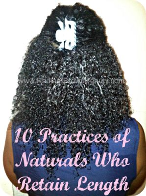 Grow Long Natural Hair: Habits for Length Retention