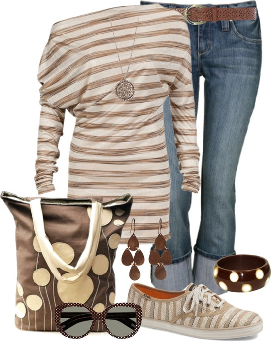 """Stripes & Dots"" by tracireuer ❤ liked on Polyvore"