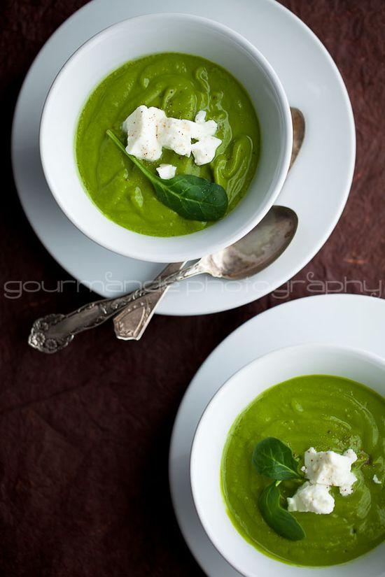 Creamy broccoli spinach soup