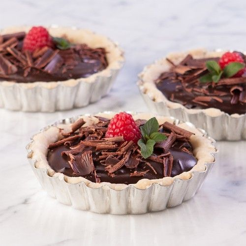 RaspberryChocolatePuddingTart