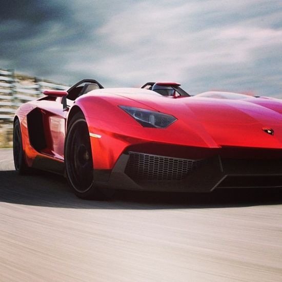 Sleek sexy and super fast! The amazing Aventador J!