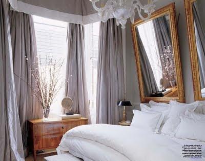 Parisian bedroom decor..
