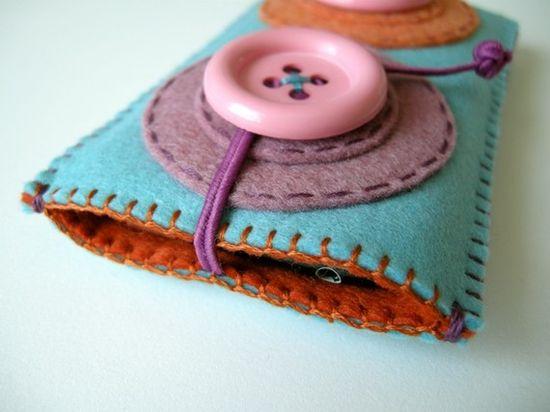 Lovely felt phone case
