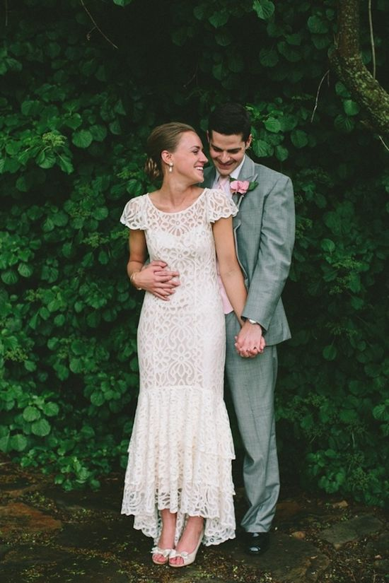 Love this bride's @BHLDN Weddings Weddings dress! photo by @Lauren Davison Fair