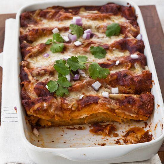 Red Chile-Chicken Enchiladas // More Great Mexican Recipes: www.foodandwine.c... #foodandwine